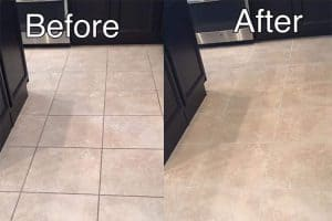 before after tile and grout cleaning