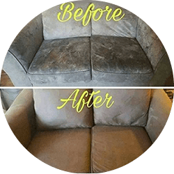 before after upholstery cleaning service