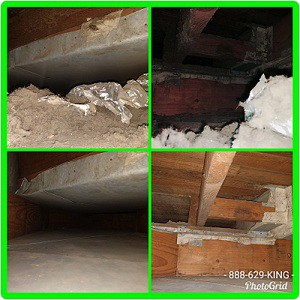 before after air duct cleaning