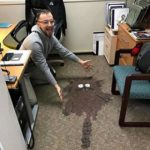 water spilled in the carpet