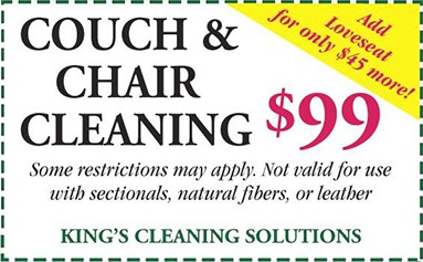 couch and chair cleaning rate