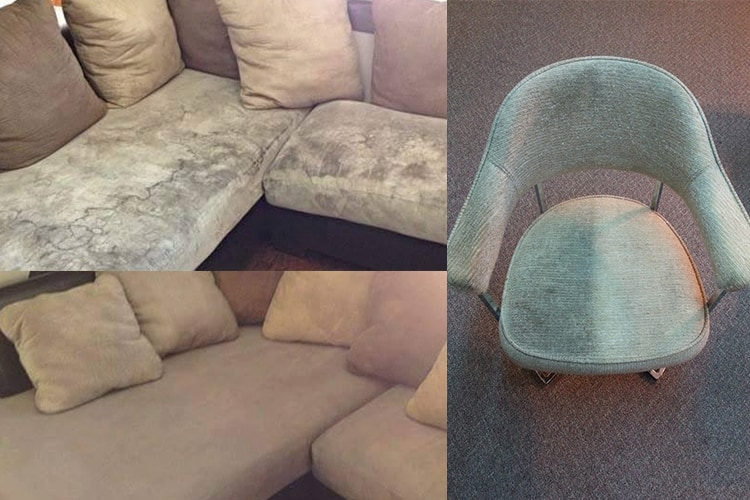 upholstery cleaning before and after result